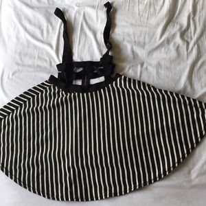 Striped skirt with attached harness